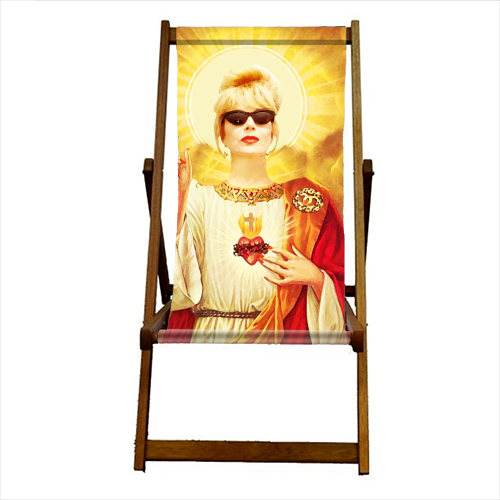 Patron Saint Of Fab - Patsy - canvas deck chair by Wallace Elizabeth