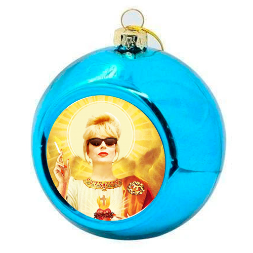 Patron Saint Of Fab - Patsy - colourful christmas bauble by Wallace Elizabeth