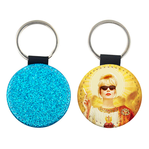 Patron Saint Of Fab - Patsy - personalised picture keyring by Wallace Elizabeth