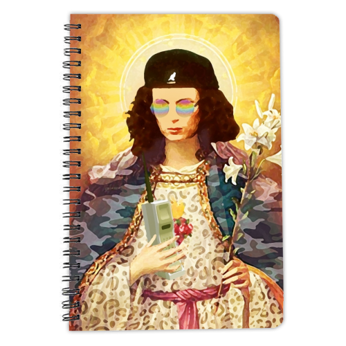 Patron Saint Of Fab - Edina - designed notebook by Wallace Elizabeth