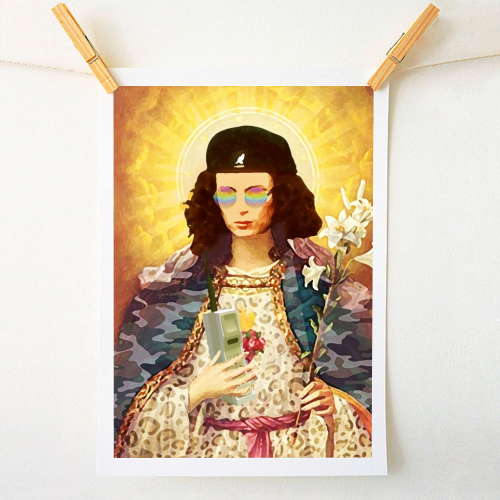 Patron Saint Of Fab - Edina - original print by Wallace Elizabeth