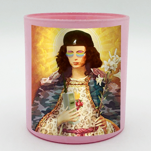 Patron Saint Of Fab - Edina - Candle by Wallace Elizabeth