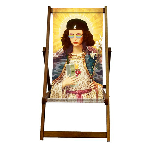Patron Saint Of Fab - Edina - canvas deck chair by Wallace Elizabeth