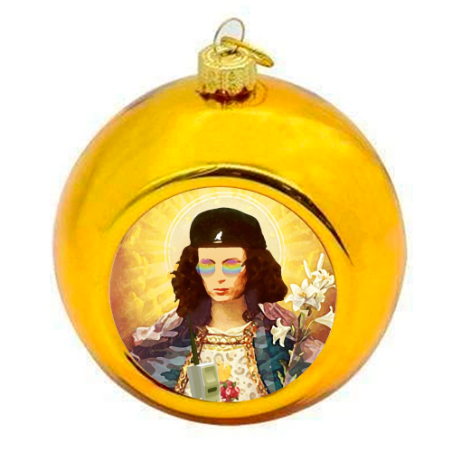 Patron Saint Of Fab - Edina - colourful christmas bauble by Wallace Elizabeth