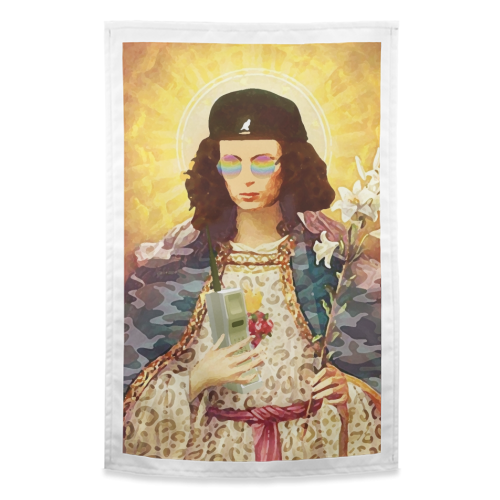 Patron Saint Of Fab - Edina - funny tea towel by Wallace Elizabeth
