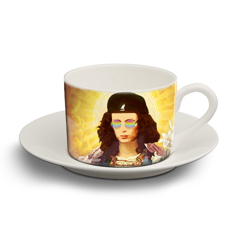 Patron Saint Of Fab - Edina - personalised cup and saucer by Wallace Elizabeth