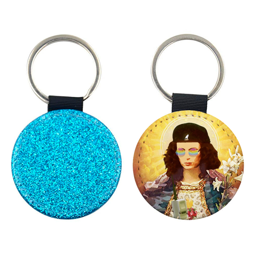 Patron Saint Of Fab - Edina - personalised leather keyring by Wallace Elizabeth