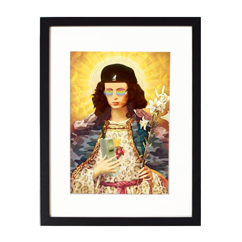 Patron Saint Of Fab - Edina - printed framed picture by Wallace Elizabeth