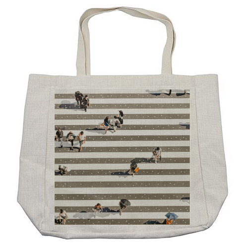 Rain Crossing - cool beach bag by Uma Prabhakar Gokhale
