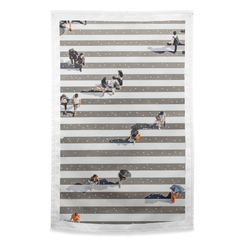 Rain Crossing - funny tea towel by Uma Prabhakar Gokhale