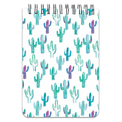 painted cacti pattern - designed notebook by lauradidthis
