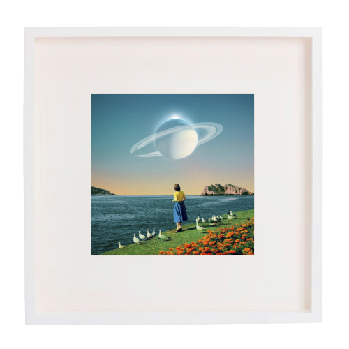 Watching Planets - printed framed picture by taudalpoi