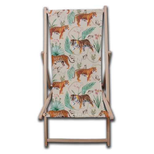 Tropical and Tigers - canvas deck chair by Uma Prabhakar Gokhale