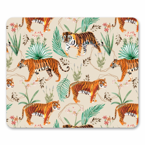 Tropical and Tigers - personalised mouse mat by Uma Prabhakar Gokhale