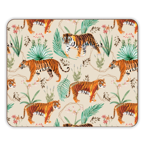 Tropical and Tigers - photo placemat by Uma Prabhakar Gokhale