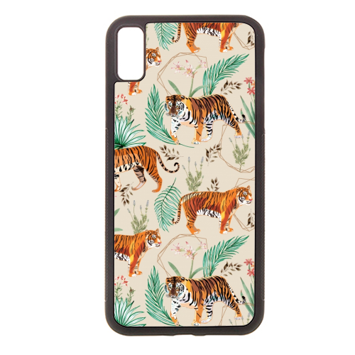 Tropical and Tigers - Rubber phone case by Uma Prabhakar Gokhale