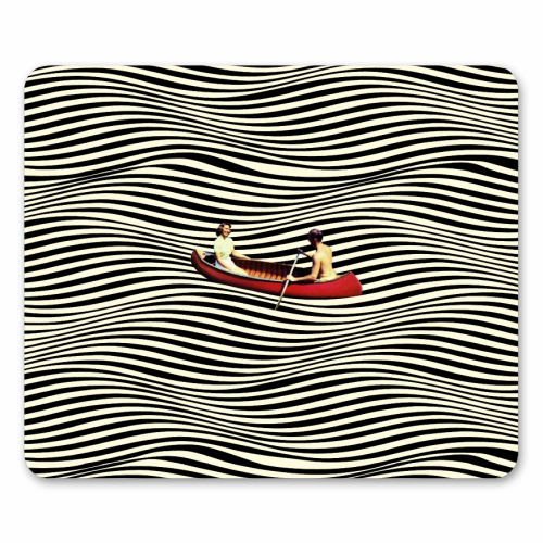 Illusionary Boat Ride - personalised mouse mat by taudalpoi