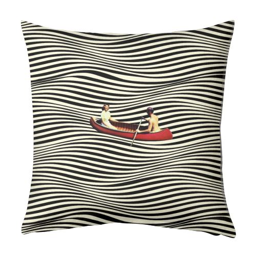 Illusionary Boat Ride - designed cushion by taudalpoi