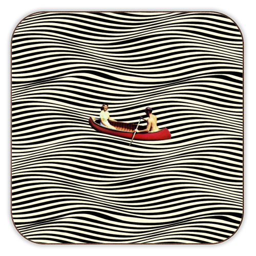 Illusionary Boat Ride - personalised drink coaster by taudalpoi