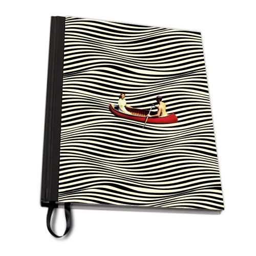 Illusionary Boat Ride - designed notebook by taudalpoi