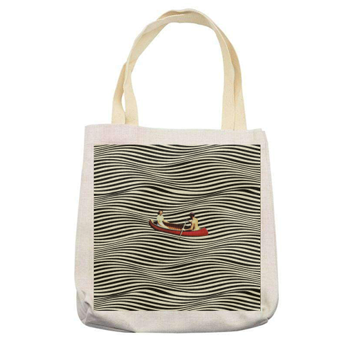 Illusionary Boat Ride - printed tote bag by taudalpoi