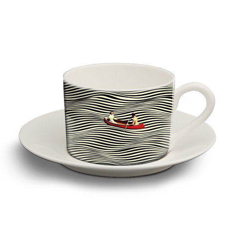 Illusionary Boat Ride - personalised cup and saucer by taudalpoi