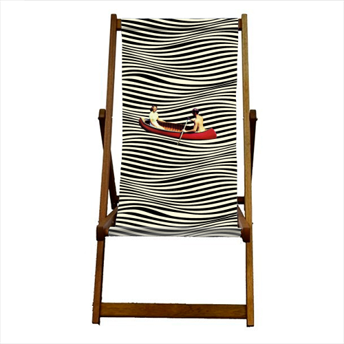 Illusionary Boat Ride - canvas deck chair by taudalpoi