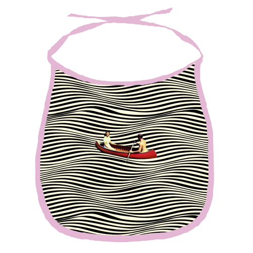 Illusionary Boat Ride - funny baby bib by taudalpoi