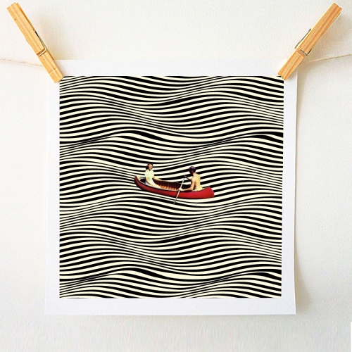 Illusionary Boat Ride - original print by taudalpoi