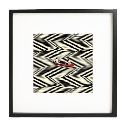 Illusionary Boat Ride - printed framed picture by taudalpoi