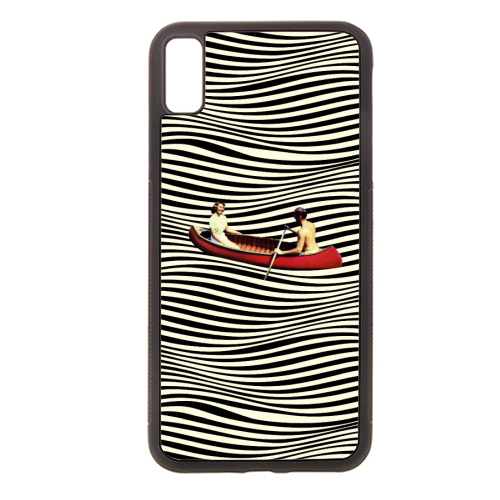 Illusionary Boat Ride - Rubber phone case by taudalpoi