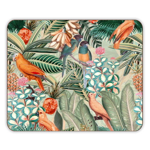 Beautiful flower and animal jungle - photo placemat by Uta Naumann