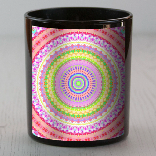 Psychedelic Mandala - Candle by Kaleiope Studio