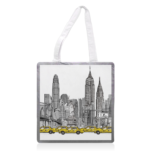 New York City Skyline - printed tote bag by Katie Clement
