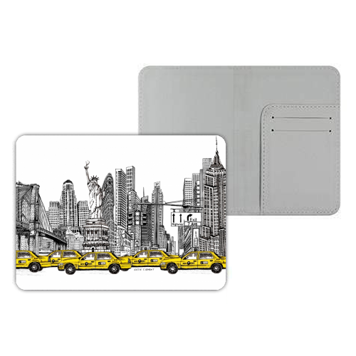 New York City Skyline - designer passport cover by Katie Clement