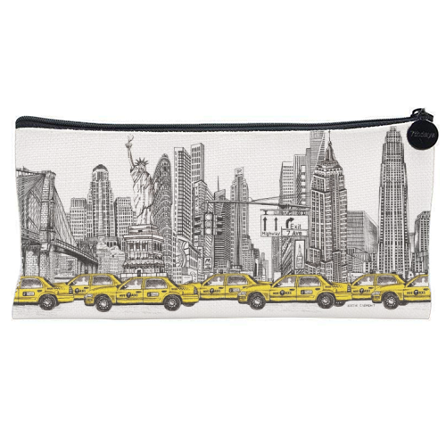 New York City Skyline - unique pencil case by Katie Clement