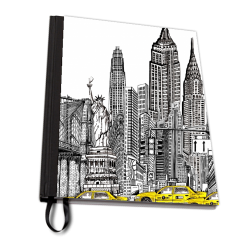 New York City Skyline - designed notebook by Katie Clement