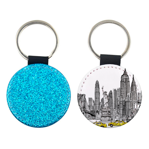 New York City Skyline - personalised picture keyring by Katie Clement