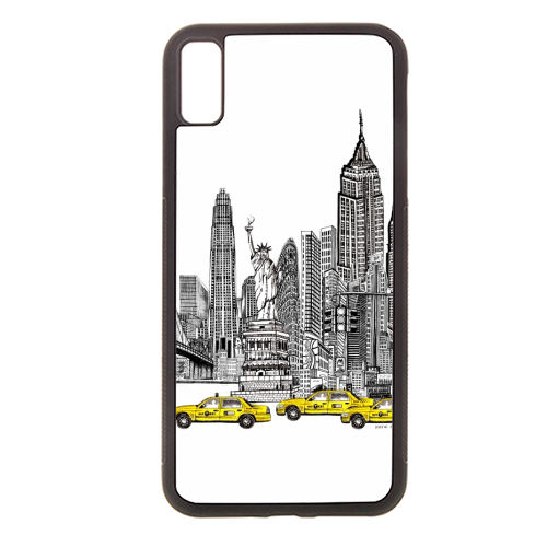 New York City Skyline - Rubber phone case by Katie Clement
