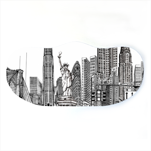 New York City Skyline - washable face mask by Katie Clement