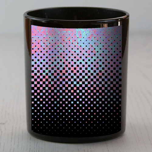 Funky Gradient Checkerboard - Candle by Kaleiope Studio
