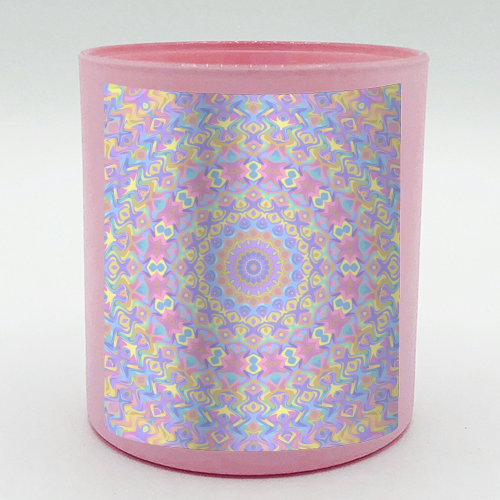 Colorful Kaleidoscope - Candle by Kaleiope Studio