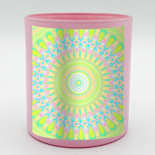 Summer Mandala 2 - Candle by Kaleiope Studio