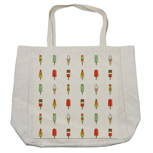 Ice Creams & Lolly Summer Striped Pattern - cool beach bag by Adam Regester