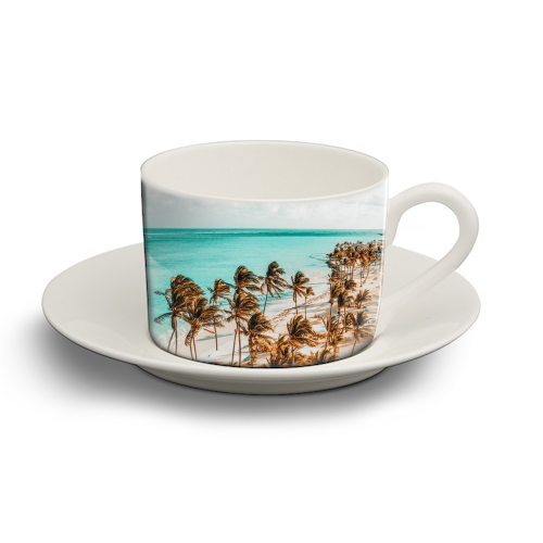 Beach Life - personalised cup and saucer by Uma Prabhakar Gokhale