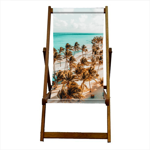Beach Life - canvas deck chair by Uma Prabhakar Gokhale