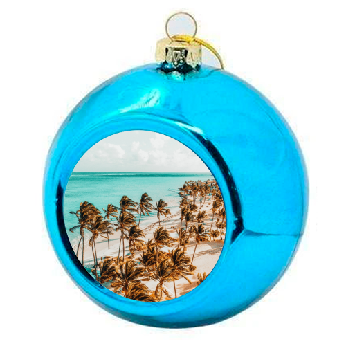 Beach Life - colourful christmas bauble by Uma Prabhakar Gokhale