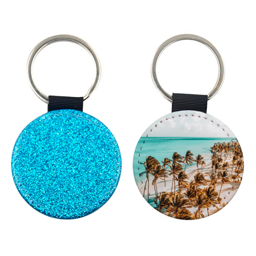Beach Life - personalised leather keyring by Uma Prabhakar Gokhale