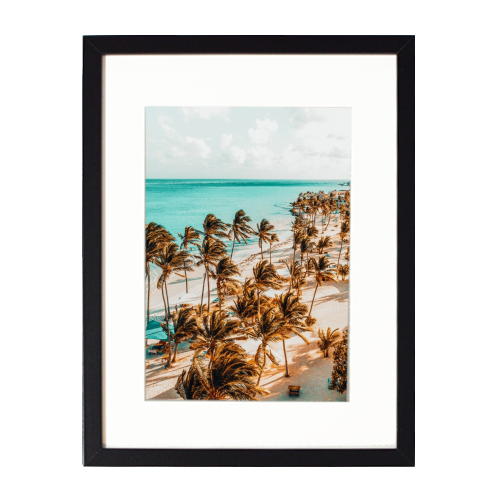 Beach Life - printed framed picture by Uma Prabhakar Gokhale