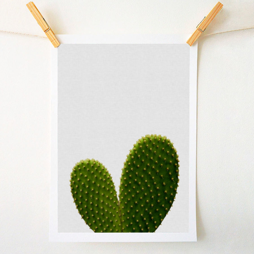 Heart Cactus - original print by Orara Studio